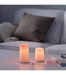 شمع LED ایکیا مدل GODAFTON بسته دوتائی