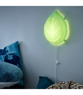 چراغ خواب LED دیواری ایکیا مدل UPPLYST طرح برگ سبز