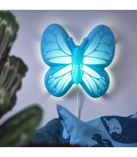 چراغ خواب LED دیواری ایکیا مدل UPPLYST طرح پروانه آبی