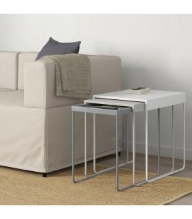 میز عسلی ایکیا مدل GRANBODA مجموعه 3 تایی