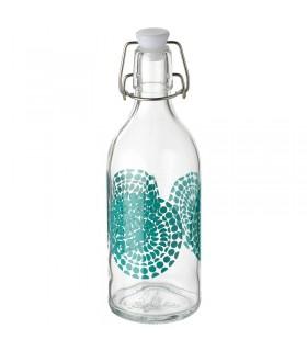 بطری نیم لیتری طرح دار ایکیا مدل KORKEN