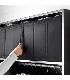 جعبه ذخیره سازی لباس ایکیا مدل SKUBB بسته سه تائی رنگ مشکی
