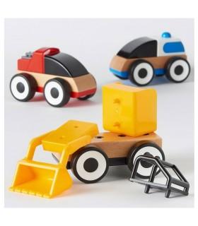 ماشین چوبی بازی کودک ایکیا مدل LILLABO بسته سه تائی