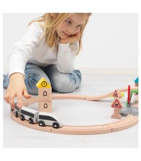 ست کامل قطار چوبی ایکیا مدل LILLABO
