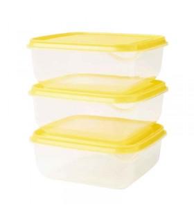 ظروف نگهدارنده غذا ایکیا مدل PRUTA بسته سه تایی