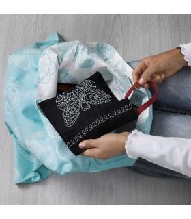کیف خرید ایکیا مدل VÄNSKAPLIG رنگ آبی