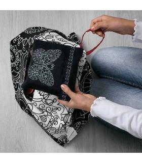 کیف خرید ایکیا مدل VÄNSKAPLIG رنگ مشکی