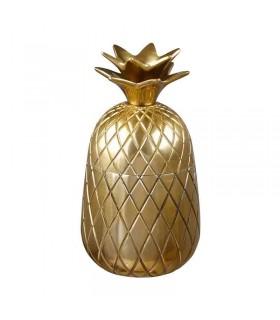 ظرف طلایی درب دار ایکیا مدل VINDFLÄKT طرح آناناس