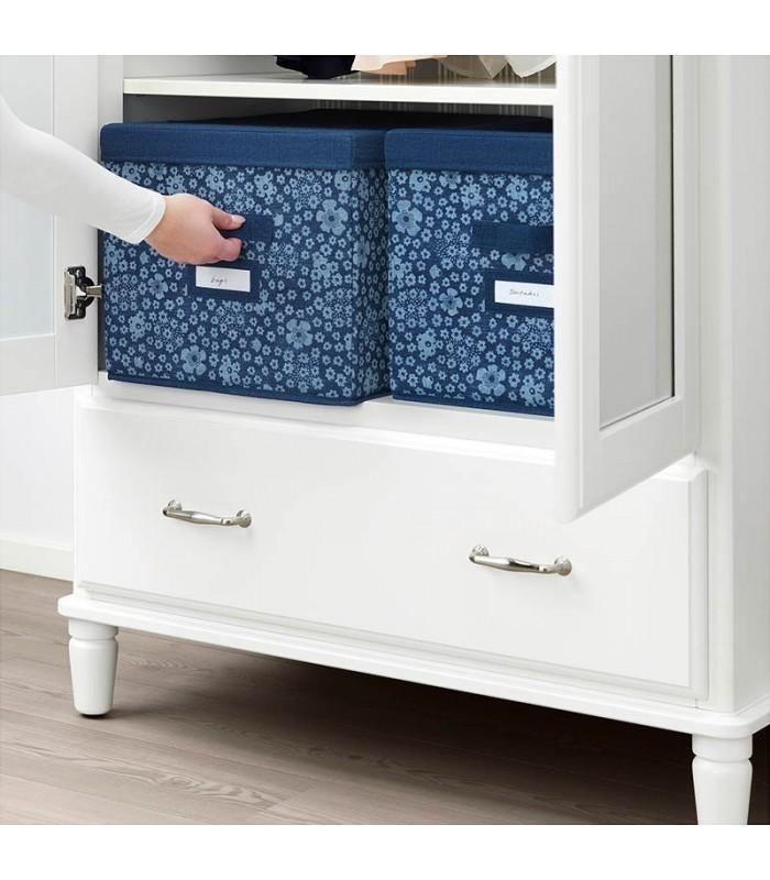 جعبه درب دار ایکیا مدل STORSTABBE سایز بزرگ رنگ آبی