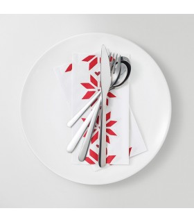 دستمال سفره ایکیا مدل VINTER 2017 رنگ قرمز