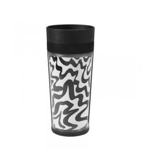 ماگ مسافرتی ایکیا مدل SPRIDD سیاه و سفید