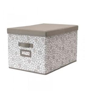 جعبه درب دار ایکیا مدل STORSTABBE سایز بزرگ رنگ بژ