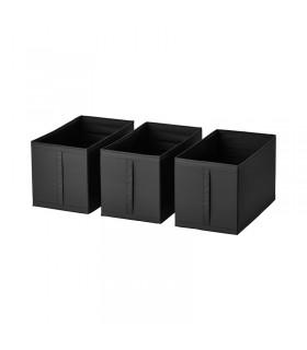 جعبه مشکی لباس ایکیا مدل SKUBB بسته 3 تایی