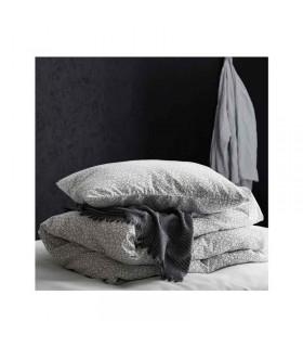 پتو ایکیا مدل TJÄRBLOMSTER رنگ خاکستری