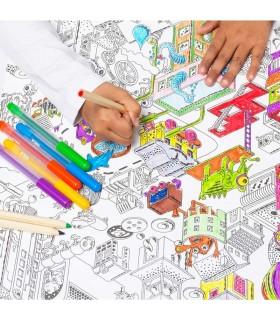 رول کاغذی رنگ آمیزی کودک ایکیا مدل LUSTIGT