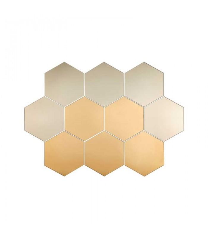 آینه شش ضلعی ایکیا مدل HÖNEFOSS بسته ده تایی