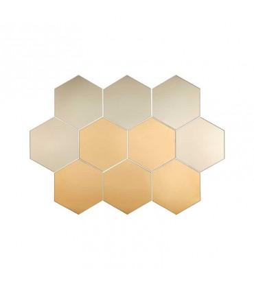 آینه شش ضلعی ایکیا مدل HÖNEFOSS ست 10 تایی