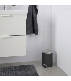 سطل زباله پدالی ایکیا مدل EKOLN رنگ خاکستری تیره