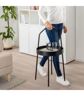 میز کنار مبلی ایکیا مدل BURVIK رنگ مشکی