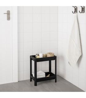 شلف 2 طبقه حمام ایکیا مدل VESKEN رنگ مشکی