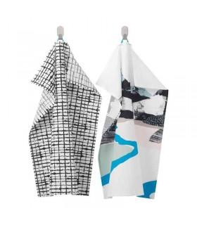 دستمال آشپزخانه ایکیا مدل LACKTICKA بسته 2 تایی