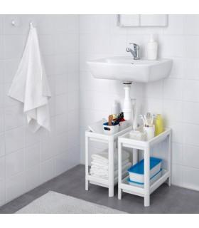 شلف 2 طبقه حمام ایکیا مدل VESKEN رنگ سفید