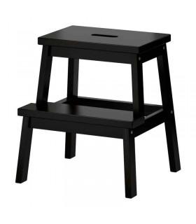 چهارپایه چوبی ایکیا مدل BEKVÄM رنگ مشکی