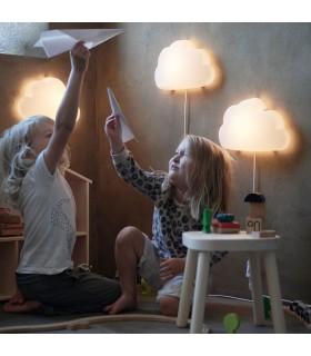 چراغ خواب LED دیواری ایکیا مدل UPPLYST طرح ابر