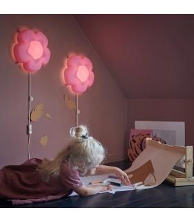 چراغ خواب LED دیواری ایکیا مدل UPPLYST طرح گل بنفش
