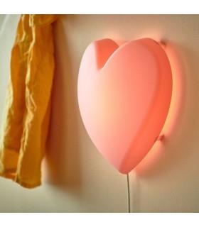 چراغ خواب LED دیواری ایکیا مدل UPPLYST طرح قلب صورتی