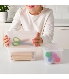 جعبه ایکیا مدل GLIS بسته 3 تایی رنگ سفید