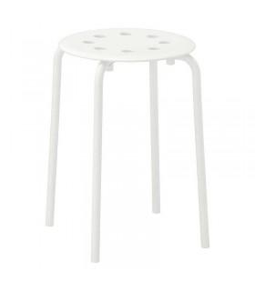 چهارپایه ایکیا MARIUS سفید