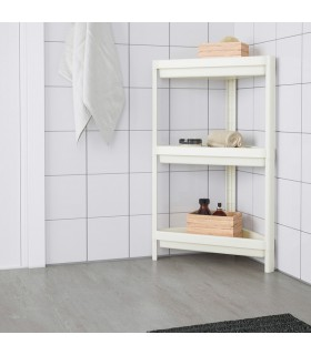 شلف سه طبقه گوشه ایی حمام ایکیا مدل VESKEN رنگ سفید