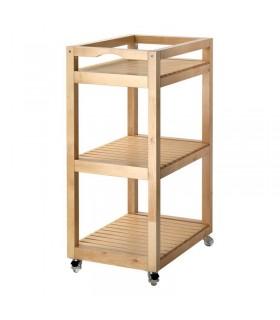 ترولی چوبی ایکیا مدل MOLGER