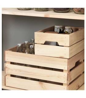 جعبه چوبی ایکیا مدل KNAGGLIG