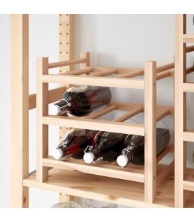 شلف چوبی نگهداری بطری ایکیا مدل HUTTEN