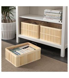 جعبه چوبی ایکیا مدل BRANKIS سایز 36x27x13