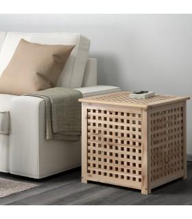 میز کنار مبلی ایکیا مدل HOL با ابعاد 50x50 سانتی متر